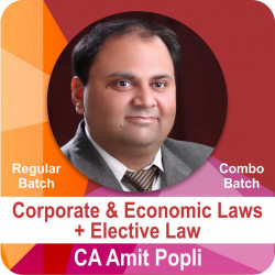 Combo Batch Corporate & Economic Laws + Elective Law